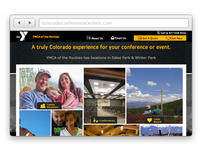 Colorado Conference Center Website Screenshot
